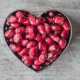 cranberry fruits in heart shape